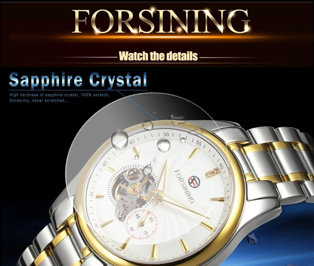 Forsining High Quality Luxury Full Stainless Steel Bracelet China Automatic Mens Watches