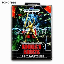 16 Bit Md Geheugenkaart Met Doos Voor Sega Mega Drive Voor Genesis Megadrive Ghouls N Ghosts
