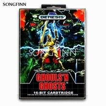 Tarjeta de memoria MD de 16 bits con caja para Sega Mega Drive, Genesis megadrive ghouls N Ghosts