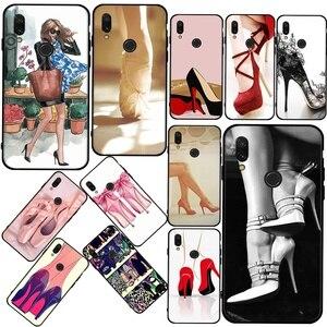 High heels shoes ballerina New super hot phone case For Redmi 4A 5X 5A 6A 7A 8A  S2 GO Pro Plus soft shell