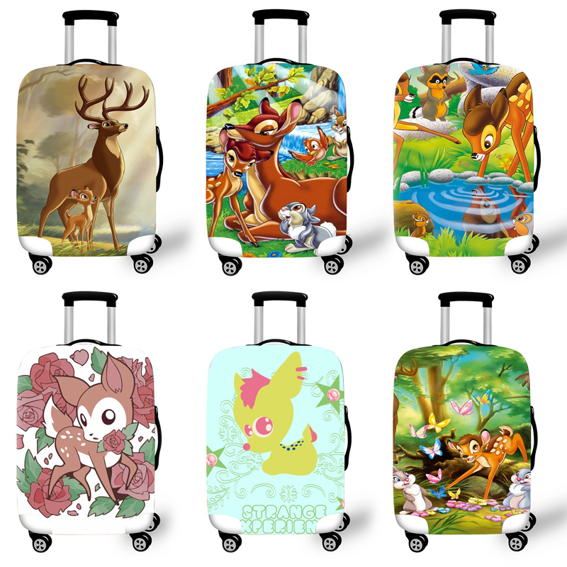 Elastic Luggage Protective Cover Case For Suitcase Protective Cover Trolley Cases Covers 3D Travel Accessories Bambi Pattern T00