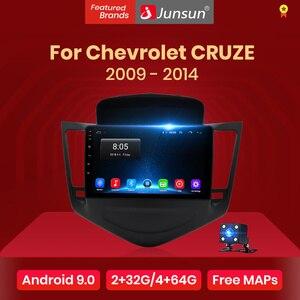 Junsun 4G+64G Android 9.0 4G Car Radio Multimedia Video Player Navigation GPS WiFi 2 din For Chevrolet CRUZE 2009-2014 no DVD(China)