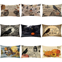 1PC/2PC/4PC Pillowcases Happy Halloween Pillow Cases Linen  Cover Home 2019