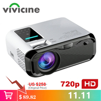 VIVICINE Newest 720p Portable LED Projector,Option Android Handheld HDMI USB Home Theater Video Game Handheld Projector Beamer