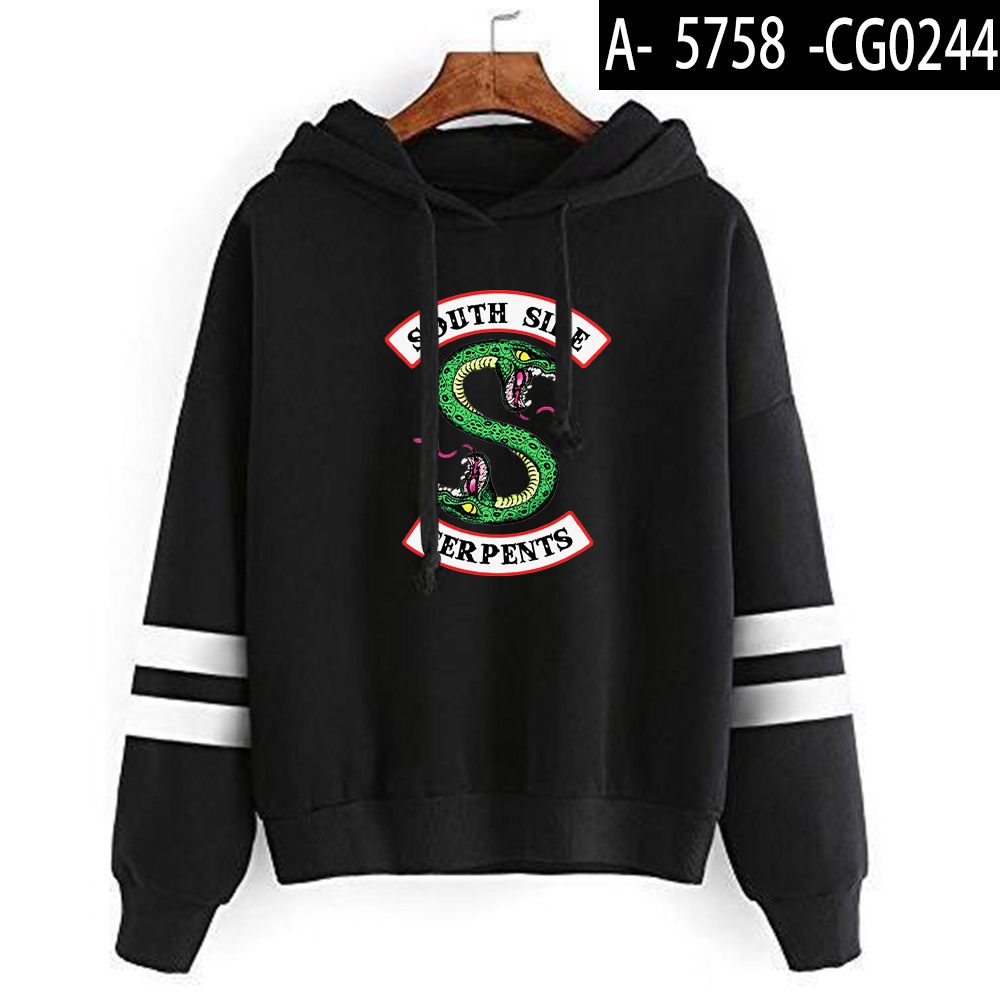 Riverdale Southside Serpents Hoodies Sweatshirts MenS Women South Side Serpents Hoodie Long Sleeve Striped Pullover Top Oversize 11