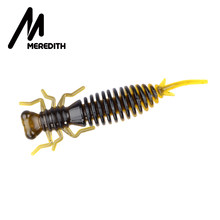 MEREDITH 85mm 4pcs Fishing Soft Baits Artificial Fishing Worm Larva Silicone Bass Pike Minnow Swimbait Jigging Plastic Lures(China)