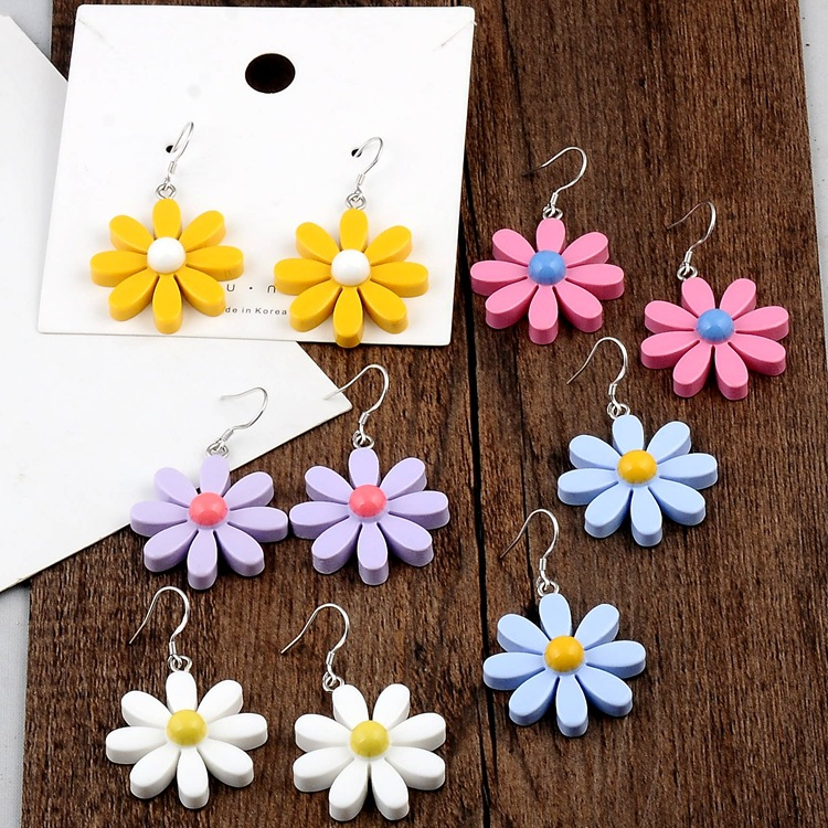 2020 <font><b>Trendy</b></font> <font><b>Cute</b></font> <font><b>pink</b></font> <font><b>flower</b></font> dangle <font><b>Earrings</b></font> <font><b>For</b></font> <font><b>Women</b></font> Statement Fashion summer Jewelry hook <font><b>Earrings</b></font> <font><b>Flower</b></font> Earing wholesale image