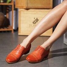 Yinzo נשים דירות אוקספורד מקורית של נעלי עור סניקרס גבירותיי נעלי בציר נעליים יומיומיות נעלי לנשים הנעלה 2020