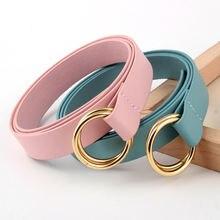 Бесплатная доставка Новые женские двойное кольцо ремень с круглой
