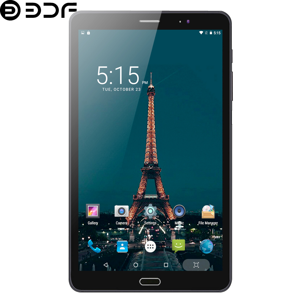 8 Inch 4G LTE Phone Call Tablets Android 7.0 Octa Core 4GB+64GB Tablet Pc Built-in 3G Dual SIM Card Laptop WiFi Bluetooth Tab