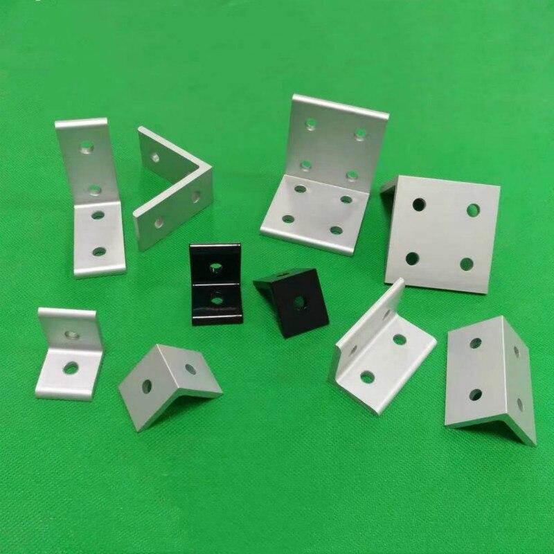 2 Holes Vertical Corner Brackets 1515 2020 3030 4040 4545 Aluminum Alloy 2 Hole 90 Degreee Inside Corner Bracket