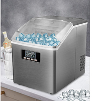 Small Ice Maker Household Ice Maker Machine Square Ice Cube Full Transparent Cover Frozen Home Appliances льдогенератор
