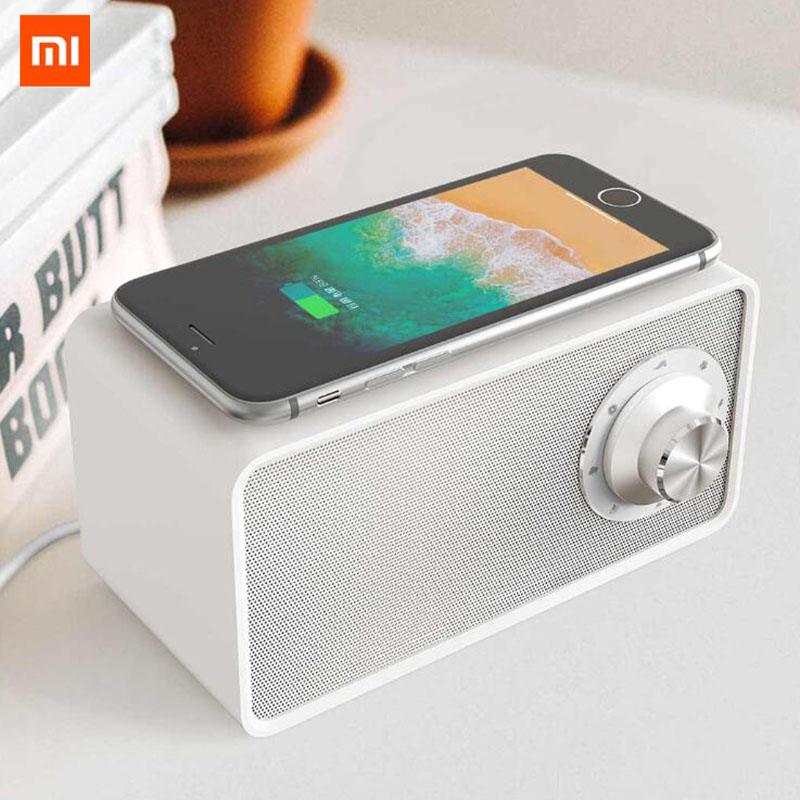 Xiaomi Mijia Qualitell Bluetooth Speaker Wireless Charger White  Noise Speaker New BLT5.0 EPP 10W Fast Charging Sleep SpeakerPortable  Speakers