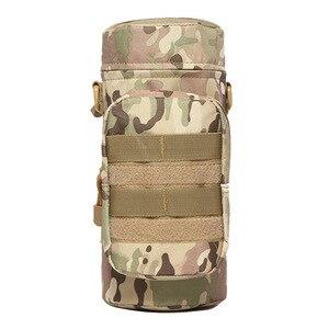 Image 4 - Açık spor taktik su şişe çantaları askeri dayanıklı yürüyüş su şişesi çantası naylon kamp tırmanma su isıtıcısı çanta