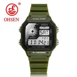 OHSEN męski zegarek cyfrowy mężczyzna wodoodporny Unisex LED męski zegarek Sport męskie zegarki Top marka zegarek wojskowy relogio masculino Saat