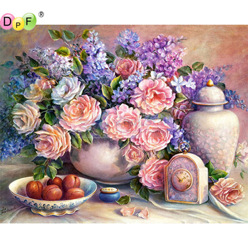 5D DIY Diamond Painting Lilac flower round/square Cross Stitch Diamond Embroidery kits Diamond Mosaic home Decorative drill image