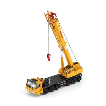 Vehicle 1:55 Crane Static Car 625011 Kaidiwei 1:55 All-Alloy Crane Crane Toy Engineering Vehicle Model цена 2017