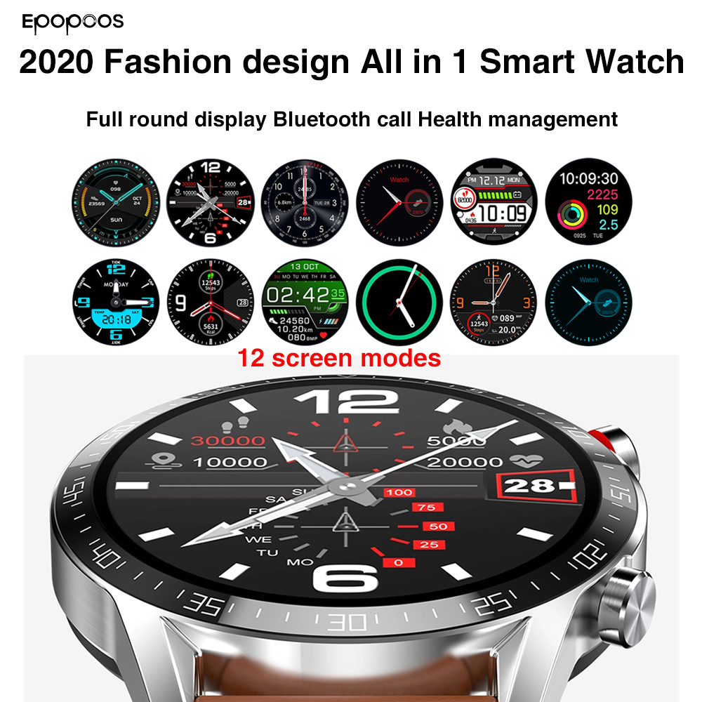 all in 1 Smart watch 2020 smartwatch 1 3 inch full screen heart rate blood pressure IP68 bluetooth call for men Android IOS