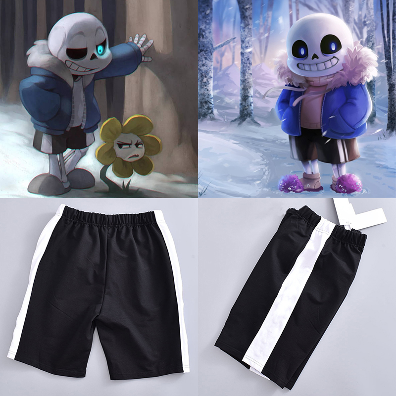 Undertale Sans Cosplay Shorts COOL Halloween Cosplay Costume Unisex Shorts