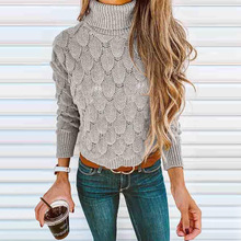 2019 autumn and winter sweater women new womens high neck collar fish scales