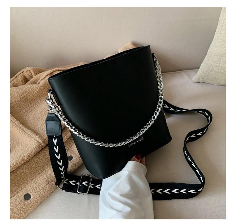 bolsa impressa alça larga bolsa de ombro