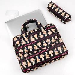Ji National Factory Прямая поставка сумка для ноутбука портативный портфель на плечо мультяшная милая сумка для компьютера