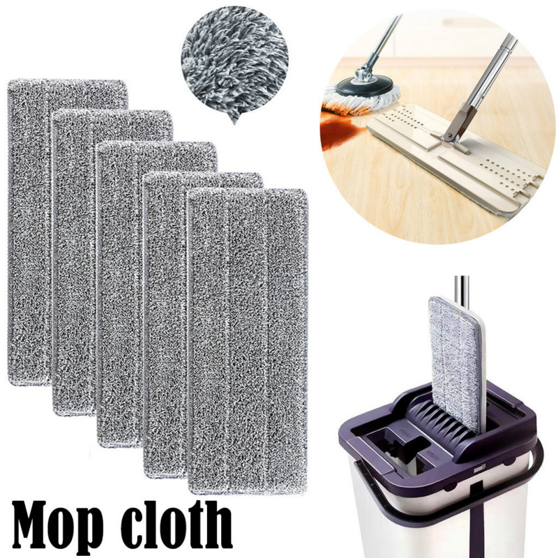 Spray Floor Mop Pad With Reusable Microfiber Mop Head For Home Kitchen Laminate Wood Ceramic Tiles Floor Cleaning 1/2/5/10PC #15