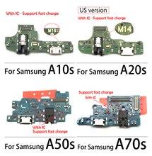 50PCS 100% נבדק טעינה להגמיש כבלים עבור סמסונג A10S A20S A30S A50S A70S USB מטען מזח נמל מחבר עם מיקרופון להגמיש כבל