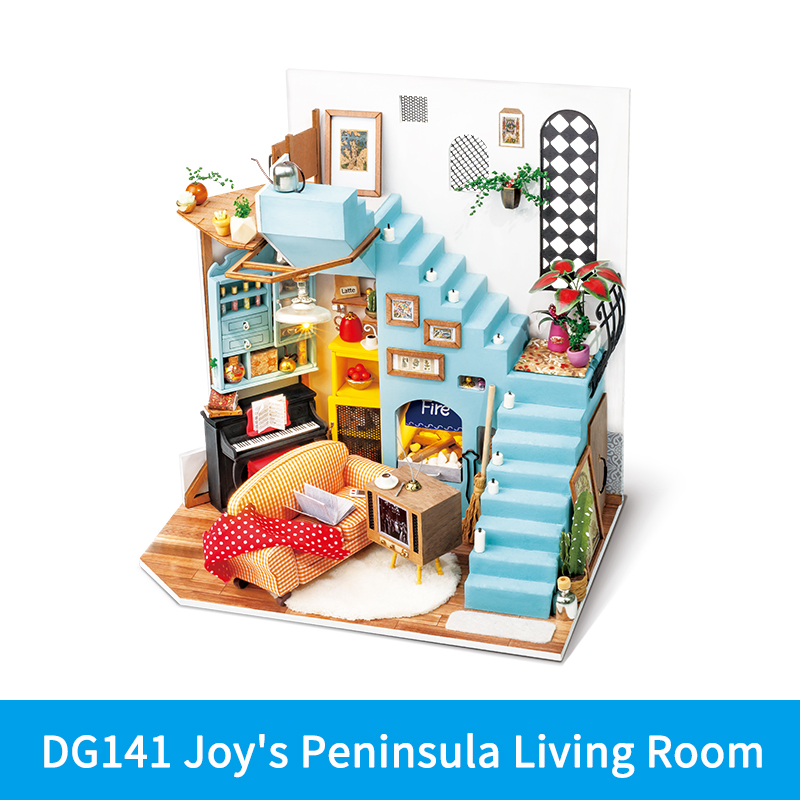 Robotime Rolife DIY Wooden Miniature Dollhouse with Furniture For Gift 7