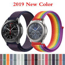 Equipo de s3 correa de 22mm para Samsung galaxy watch 46mm 42mm reloj banda de s2 20mm deporte nylon amazfit gtr huawei watch Accesorios(China)