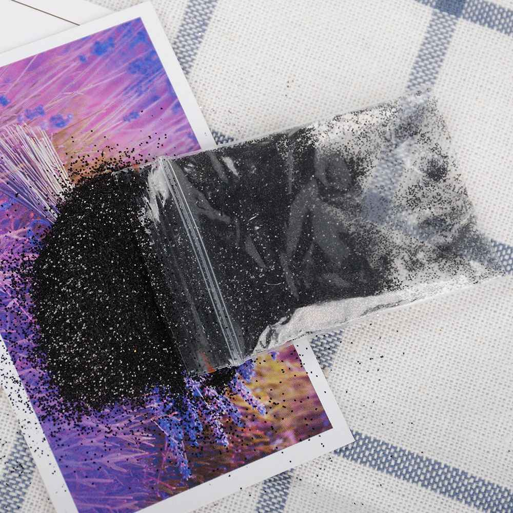 5 グラムホログラフィック爪グリッターパウダーレーザーネイルアートスパンコールクロームフレーク顔料ダスト装飾 DIY マニキュア無料船