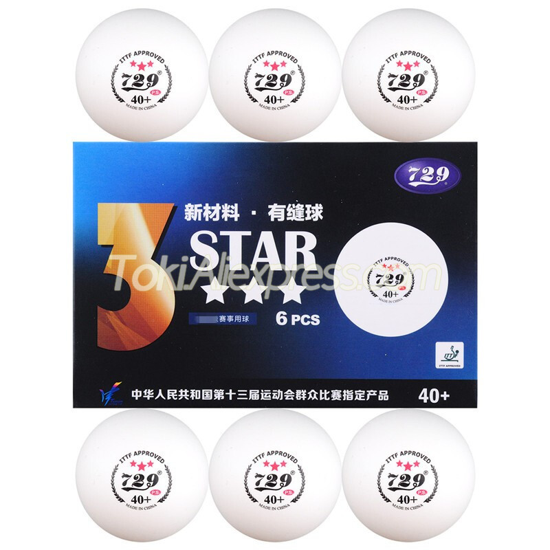 Friendship 729 3 Star Table Tennis Ball Plastic ABS Seamed Poly 729 Original 3-Star Ping Pong Balls ITTF Approved