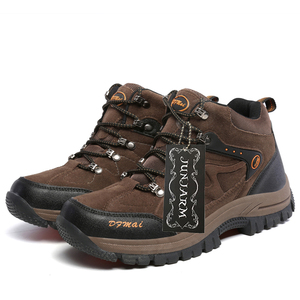 Image 4 - JUNJARM zapatos de invierno para hombre, botas de nieve cálidas de alta calidad, zapatillas antideslizantes impermeables, calzado ligero 39 48 de moda, 2020