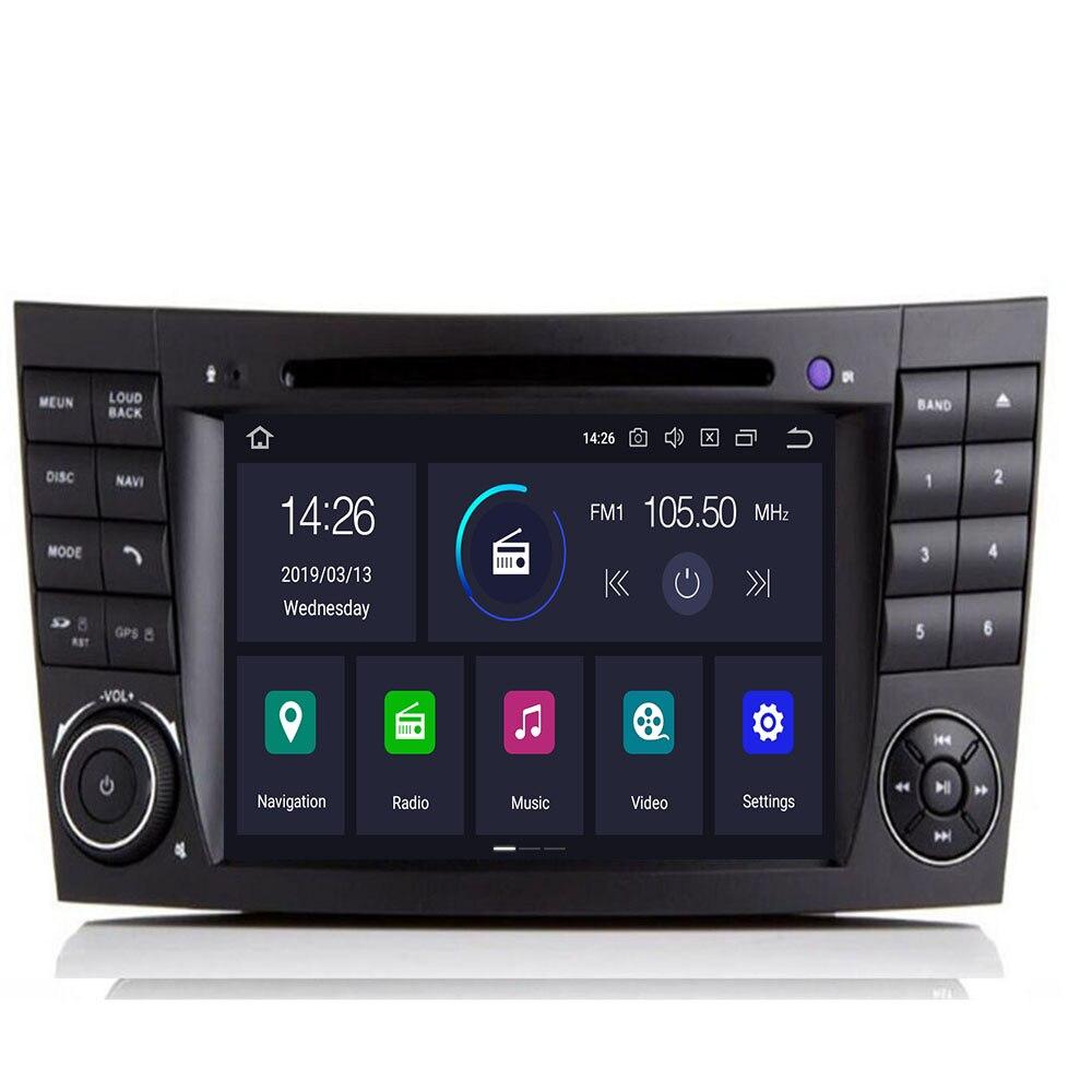 2 DIN 7 pouces Android 9.0 lecteur DVD de voiture pour Mercedes Benz W211 CLK W209 CLS W219 octa cœurs 4GB RAM radio GPS Navigation