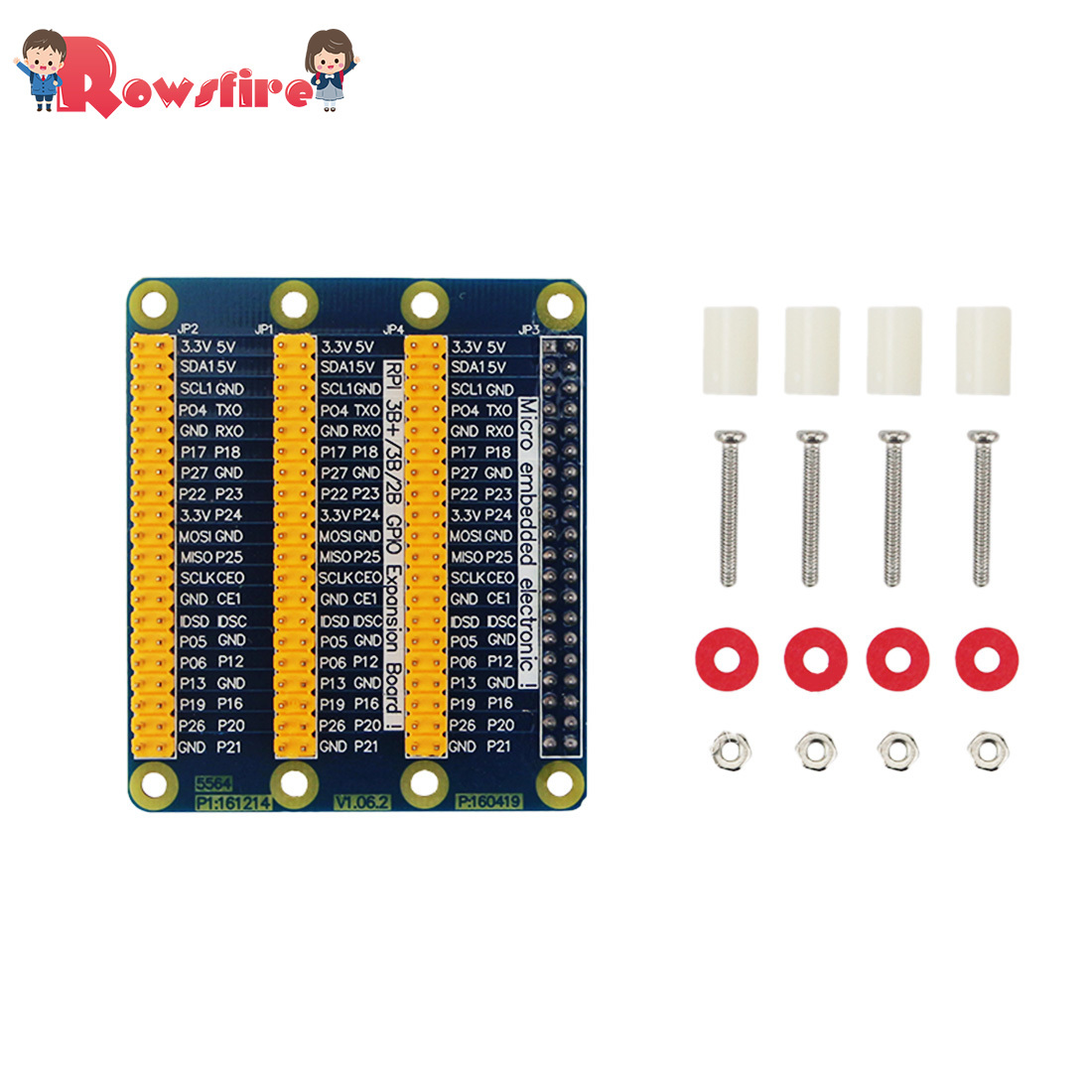 3 In 1 GPIO Expansion Board External Connection GPIO Expansion Board For Raspberry Pi 3B+/3B/2B