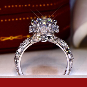 Real S925 Sterling Silver Natural Diamond Ring for Women Fine Solid Silver 925 Jewelry Anillos Mujer Bizuteria Gemstone Ring Men