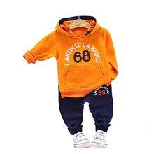 цена на Autumn Baby Clothing Suits Children Boys Girls Clothes Kids Hooded Sweatshirt Pants 2Pcs/Sets Toddler Leisure Sport Tracksuit