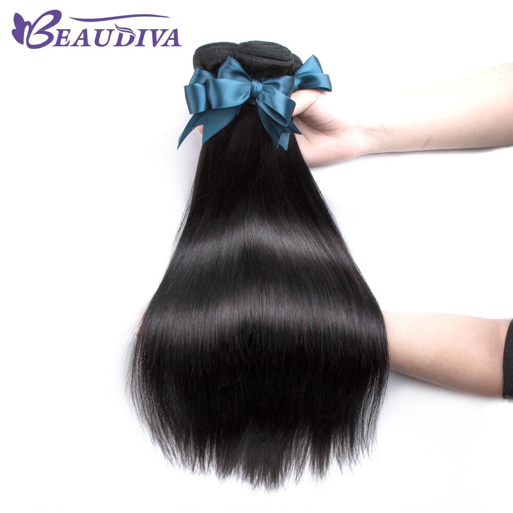 Beaudiva Brazilian Straight Hair 3 Bundles Brazilian Hair Weave Bundles 100% Human Hair Bundles Remy Hair Weave