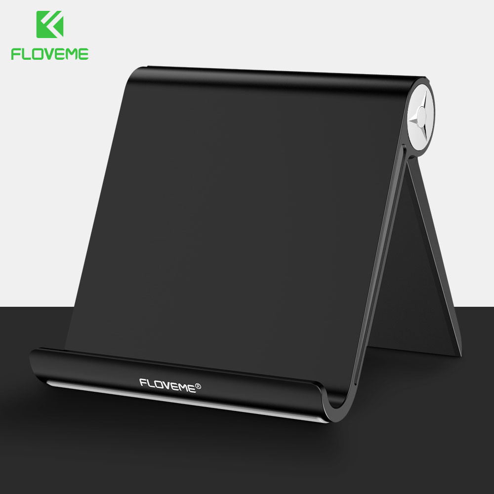 FLOVEME Phone Holder Stand For IPhone X 8 7 6 S Samsung S9 Adjustable Aluminium Desktop Holder Mobile Phone Tablet Stand Holder