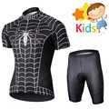 Marvel Super Hero Spider Man Cycling Jersey Set for Kids Children's Maillot Breathable Cycling Clothing Ropa Ciclismo Bike Wear