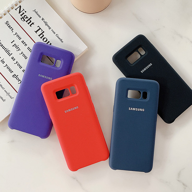 Original Liquid Silicone Case Soft-Touch Silky Protective Cover For Samsung Galaxy S8/S8 Plus