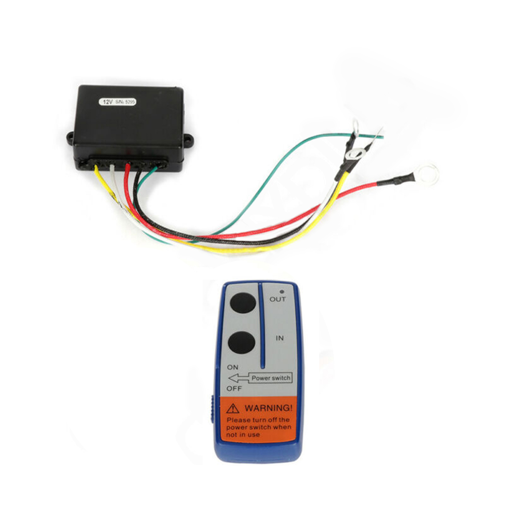 12V Universal ATV SUV Electric Winch Wireless Remote Control Receiving Box Manual Transmitter Accessories