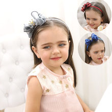 Europe And America Metal Bow Hair Bands 70630 New Style Princess Crown Headband Europe And America Hair Clip Headdress(China)