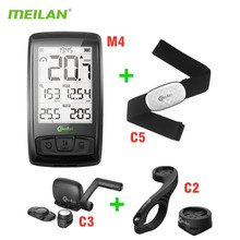 Bicycle-Speedometer HRM Meilan M4 Heart-Rate-Sensor Bluetooth Ant  Wireless with C5 BLE4.0