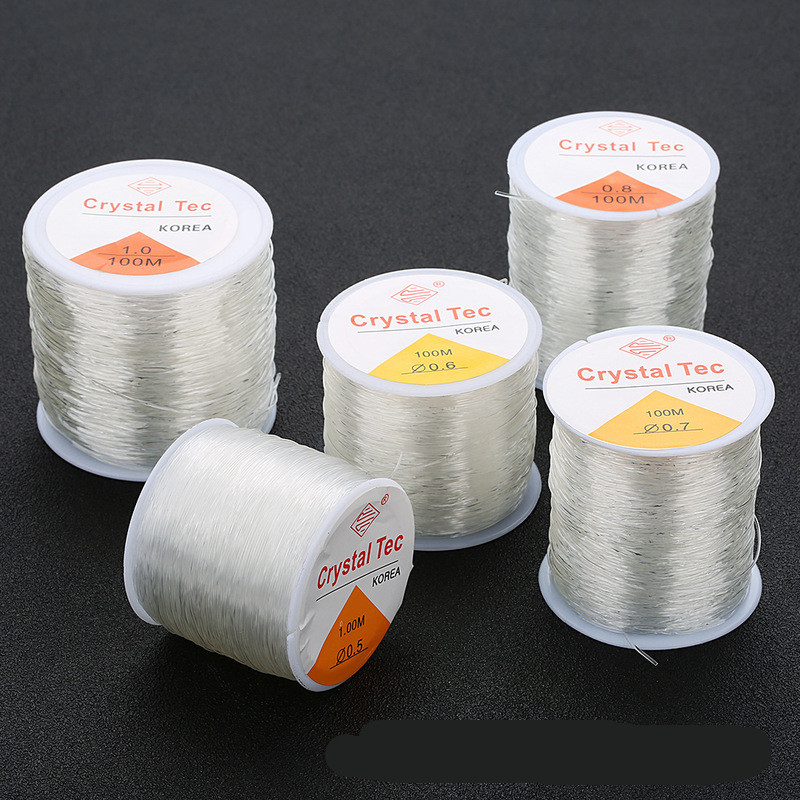 10 метров пластиковая Хрустальная линия DIY, растягивающиеся шнуры для бисероплетения, эластичная веревка для изготовления ювелирных издели...