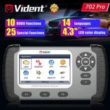VIDENT iAuto702 Pro OBD2 диагностический инструмент ABS SRS TPMS SAS DPF инжектор BRT Oil 25 сброс обслуживания Автомобильный сканер