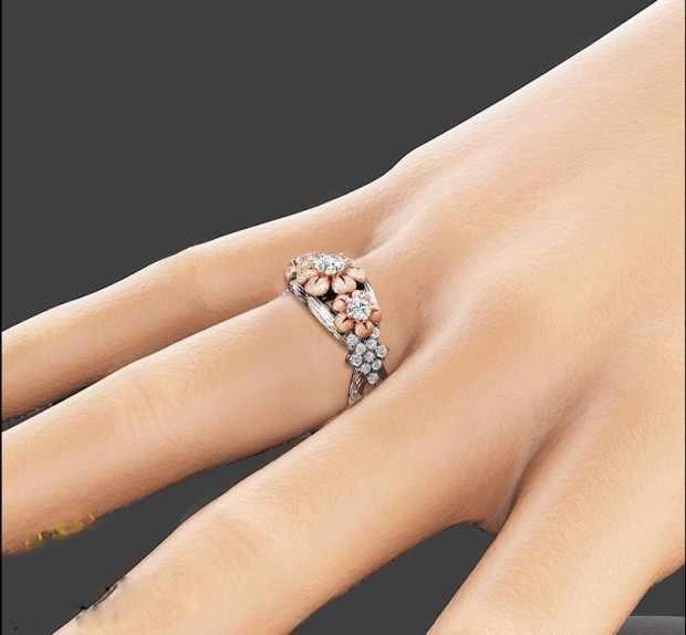 S925 Sliver แหวนเพชรสำหรับสตรี 2 กะรัต Peridot Anillos Bizuteria ดอกไม้อัญมณี Topaz Bizuteria Sliver 925 แหวนเพชร