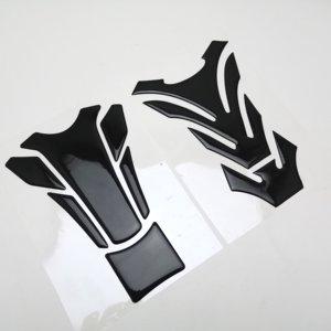 All Black Color 3D Motorcycle Sticker Decal Gas Oil Fuel Tank Pad Protector For Honda-Kawasaki-Yamaha-Suzuki-Ducati-BMW(China)