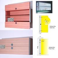 Aluminum Vertical Wall Cabinet Sliding Door Rail Runner Slider Dual Up Down Door Pull Mechanism Synchronism Sliding Equalizer