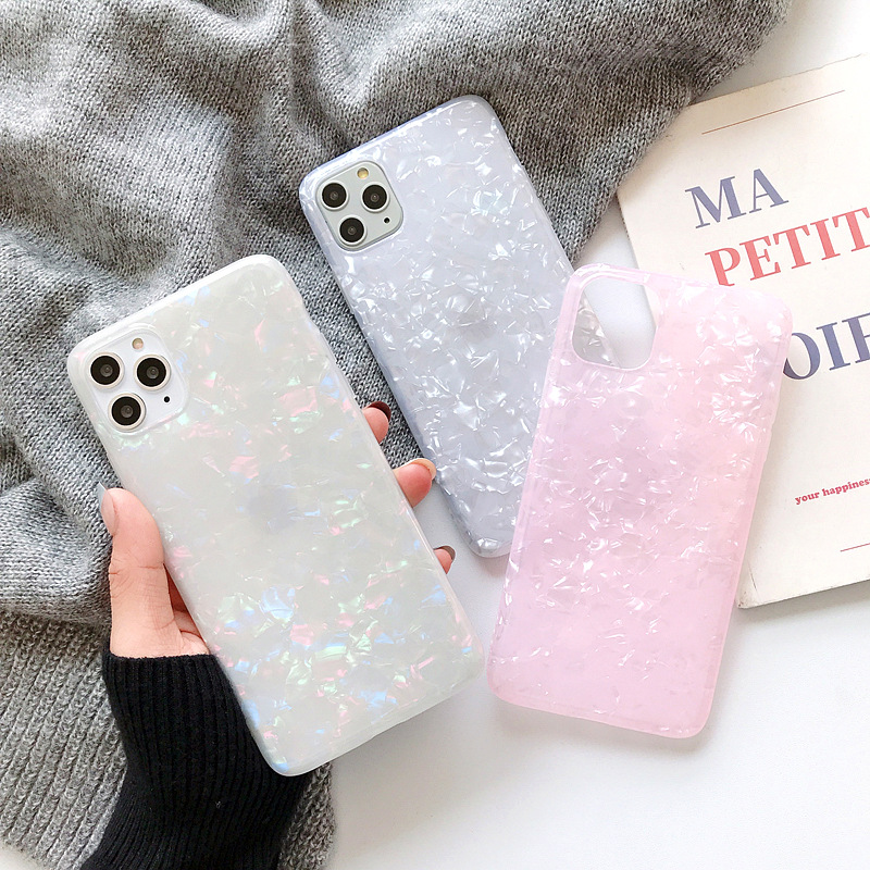 Gradient Soft Case for iphone X XR 11 Pro XS MAX XR 6 6S 7 8 Plus XS MAX Glitter Silicone TPU Back Shell Conch Drop Proof Cover